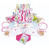 Happy 30th Birthday Pop-Up Greeting Card