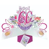 Female 60th Birthday Pop-Up Greeting Card
