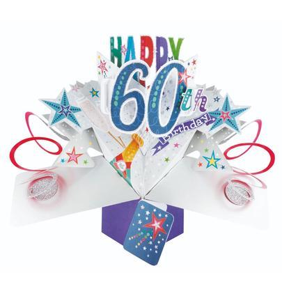 Happy 60th Birthday Pop-Up Greeting Card