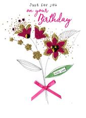 Just For You On Your Birthday Irresistible Greeting Card