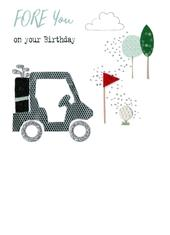 Golf Fore You On Your Birthday Irresistible Greeting Card