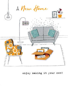 New Home Enjoy Making It Your Own Irresistible Greeting Card