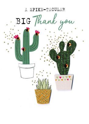 A Spike-Tacular Big Thank You Irresistible Greeting Card