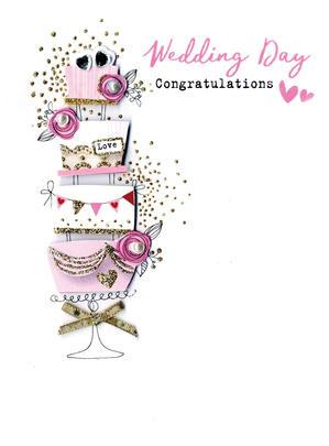 Wedding Day Congratulations Irresistible Greeting Card