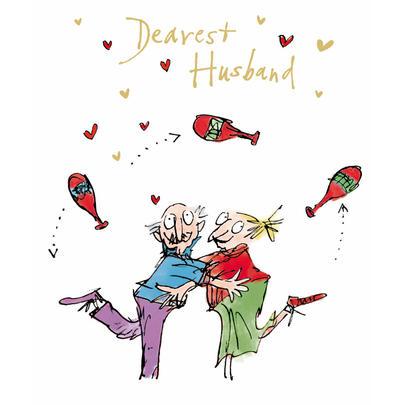 Quentin Blake Husband Valentine's Day Greeting Card