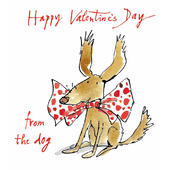 Quentin Blake From The Dog Happy Valentine's Day Greeting Card