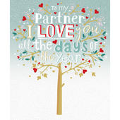 Partner Love You All The Days Valentine's Day Greeting Card