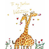 Quentin Blake To My Partner Valentine's Day Greeting Card