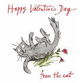 Quentin Blake From The Cat Happy Valentine's Day Greeting Card