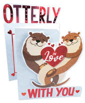 Otterly In Love With You Valentine's Day Card