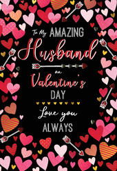 To My Amazing Husband Embellished Magnifique Valentine's Card