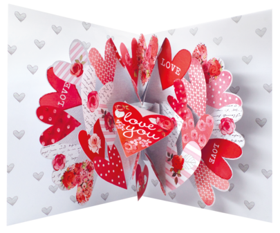Pop Out Happy Valentine's Day Greeting Card Large