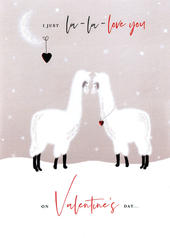 La-La-Love Llamas Valentine's Day Greeting Card