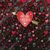 Love You Millions Valentine's Day Greeting Card
