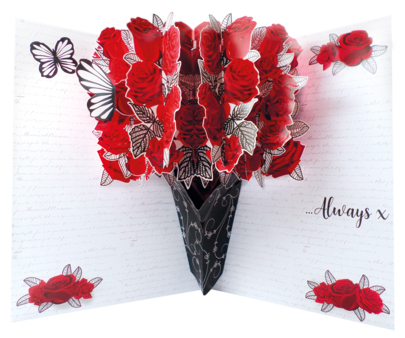 Pop Out For My Valentine With Love Greeting Card Large