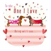 One I Love Dogs Valentine's Day Greeting Card