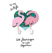 My Wife Flamingo Valentine's Day Greeting Card