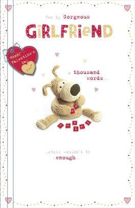 Boofle Gorgeous Girlfriend Valentine's Greeting Card