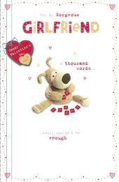 Boofle Gorgeous Girlfriend Valentine's Greeting Card