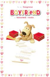 Boofle Gorgeous Boyfriend Valentine's Greeting Card