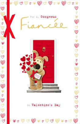 Boofle Gorgeous Fiancee Valentine's Greeting Card