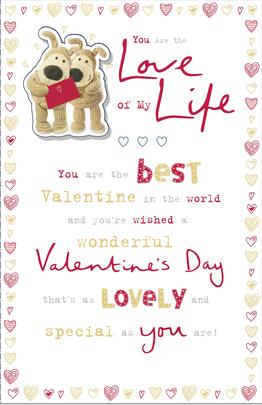 Boofle Love Of My Life Valentine's Greeting Card