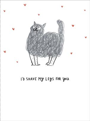 I'd Shave My Legs For You Humour Valentine's Day Card