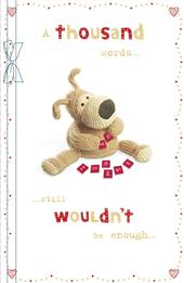 Boofle A Thousand Words Valentine's Greeting Card