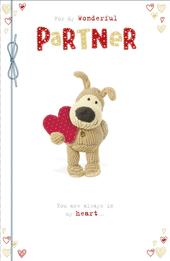 Boofle Wonderful Partner Valentine's Greeting Card