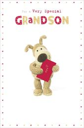 Boofle Very Special Grandson Valentine's Greeting Card