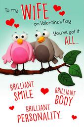To My Wife Funny Pop Out Valentine's Day Greeting Card