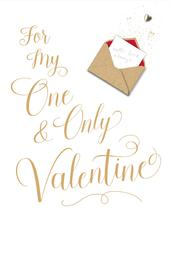 For My One & Only Valentine Embellished Valentine's Day Greeting Card