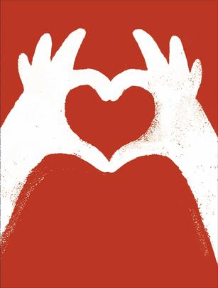 Heart With Hands Valentine's Day Card