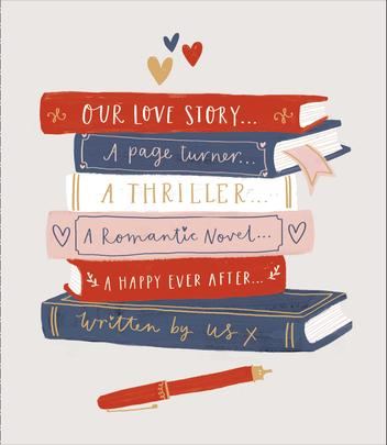 Love Story Written By Us Embellished Valentine's Day Greeting Card