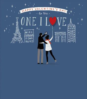 To The One I Love Embellished Valentine's Day Greeting Card