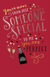 To Me You Are Perfect Embellished Valentine's Day Greeting Card