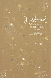 Husband We Were Written In The Stars Embellished Valentine's Day Greeting Card