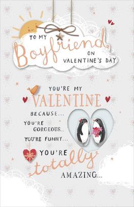 To My Boyfriend Embellished Valentine's Day Greeting Card