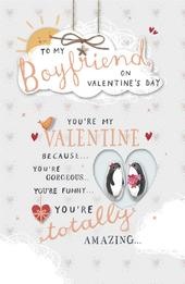 To My Boyfriend Embellished Valentine's Day Greeting Card