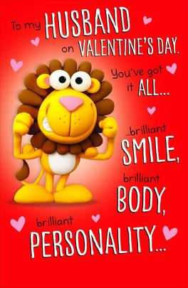 To My Husband Funny Pop Out Valentine's Day Greeting Card