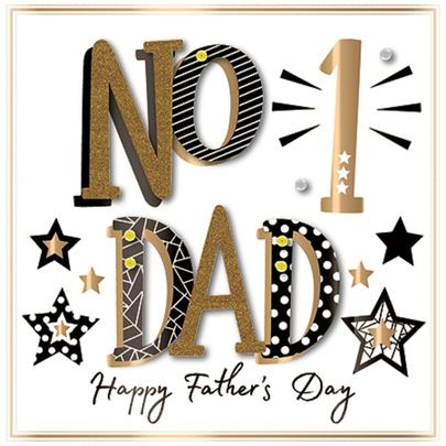 No. 1 Dad Happy Father's Day Greeting Card