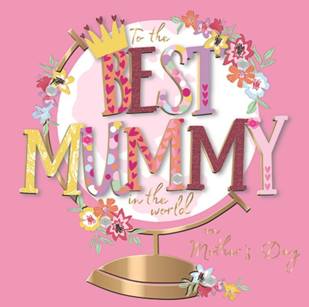 Best Mummy Happy Mother's Day Greeting Card