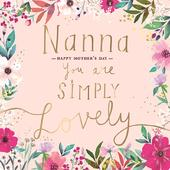 Nanna Happy Mother's Day Greeting Card