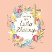 Sending Easter Blessings Easter Greeting Card