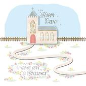 Sending Love & Blessings Easter Greeting Card
