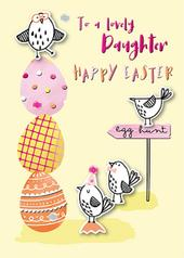 To A Lovely Daughter Happy Easter Greeting Card