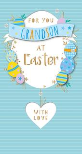 For You Grandson At Easter Greeting Card
