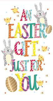An Easter Gift Just For You Easter Money Wallet Card