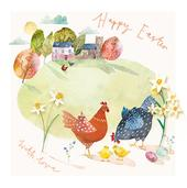 Happy Easter With Love Pack of 5 Mini Easter Cards
