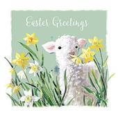 Easter Greetings Pack of 5 Mini Easter Cards